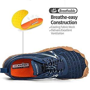 ALEADER Minimalist Running Shoes Mens Barefoot Five Fingers Toe Shoes Navy 9.5 M US Men