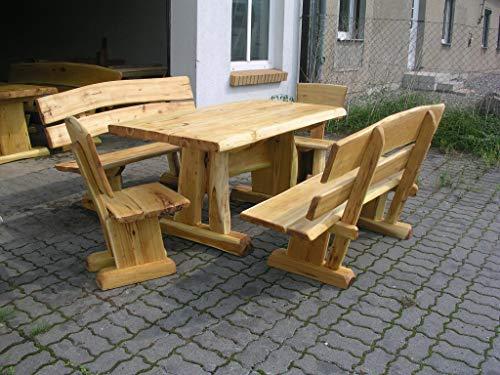 KJR Holzmanufaktur - Conjunto de muebles de jardín (madera de roble, 2 m)