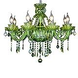 Eleganti di Cristallo Lampadario Calda Luce di Soffitto Clear - Lounge, Camera, Disimpegno Droplet Soffitto di Vetro Apparecchio Apparecchio Elegante Acrilico Jewel (Color : Green)