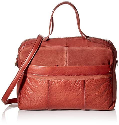 PIECES Damen Pcnaya Leather Daily Bag Fc Henkeltasche, Rot (Picante), 12x26x37 cm