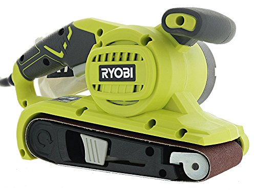 "Ryobi BE319 6 Amp Portable 320 Feet / Minute Corded Belt Sander (3"" x 18"") w/ Onboard Removable Dust Bag (Medium Grit Sanding Belt Included)"
