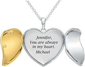 """""""You Are Always In My Heart"""" Personalized Locket Pendant – Personalized Jewelry Gifts – Locket Necklaces for Women – Roman..."""