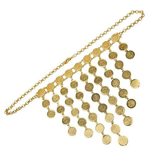 Nobrand 61cm Metal Moneda Grandes Collares para Las Mujeres, Monedas árabes Regalo de Boda Islam/Medio Oriente/joyería Africana Nuevo