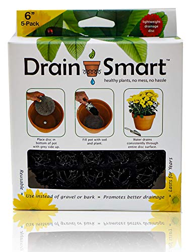 "Drain Smart 6"" 5-Pack Drainage Discs - Perfect for Indoor/Outdoor Potted Plants 