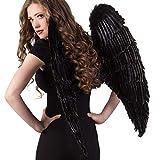 Boland 52816 - Alas de ángel (Aprox. 87 x 72 cm, Talla única), Color Negro