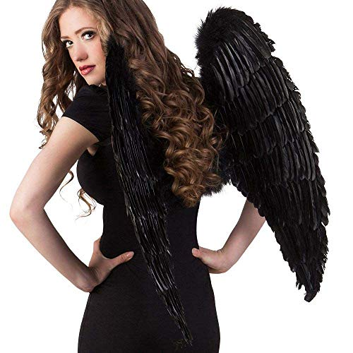 Boland 52816 Ailes d'ange env. 87 x 72 cm Noir Taille Unique