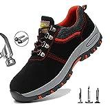 HOAPL Zapatos de Seguridad Ultra-Ligeros para Hombres Comodas Transpirable...