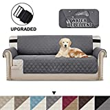 BellaHills Sofa Protectors Waterproof from Pets/Dogs/Kids Sofa Covers 3 Seater Couch Covers Furniture Protector Covers Soft Quilted with Non Slip Strap Seat Width: 66
