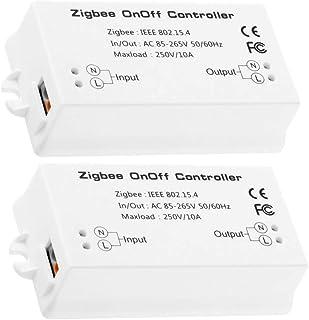 [2 Pieces]Zigbee Home Smart Controller,Zigbee Smart Switch,Compatible with Amazon Echo Plus Alexa, and Smart Things Hub AP...