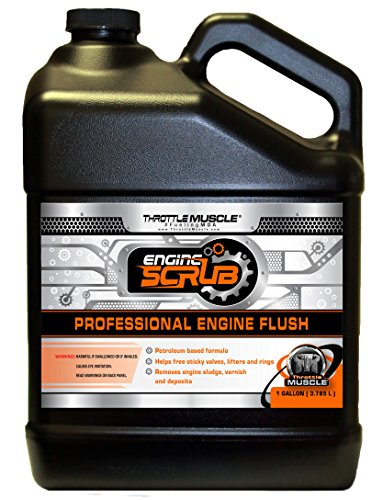 Throttle Muscle TM7326 - Engine Flush Oil System and Engine Crankcase Cleaner 128 Oz