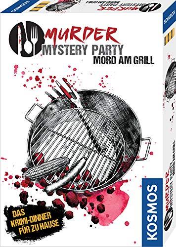 KOSMOS 695118 - Murder Mystery Party - Mord am Grill - Das Krimi-Dinner für zu Hause, Komplett-Set für genau 6 - 8 Personen ab 16 Jahren, Partyspiel