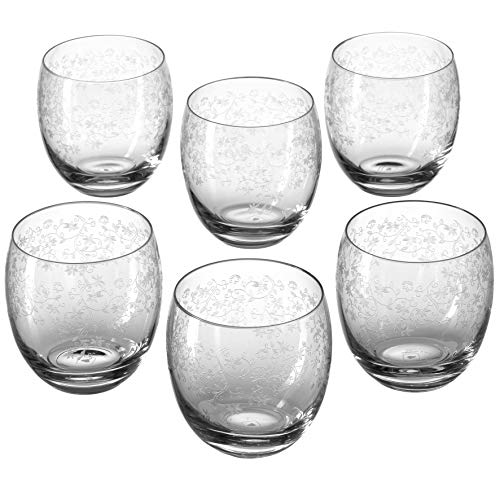 Leonardo Whisky Trinkglas Chateau, Whisky-Gläser mit zartem Muster, modernes Gläser-Set 400-ml Füllmenge, 6-teilig, 061595