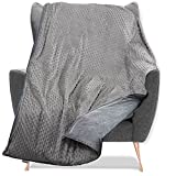 Quility Weighted Blanket for Kids and Toddlers with Soft Cover - 12 lbs Twin Size, Heavy, Machine Washable, Heating & Cooling - (48' X 72') (Grey)