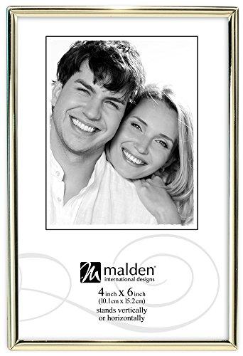 Malden International Designs Simplicity Bilderrahmen, Metall, 10 x 15 cm, Messing