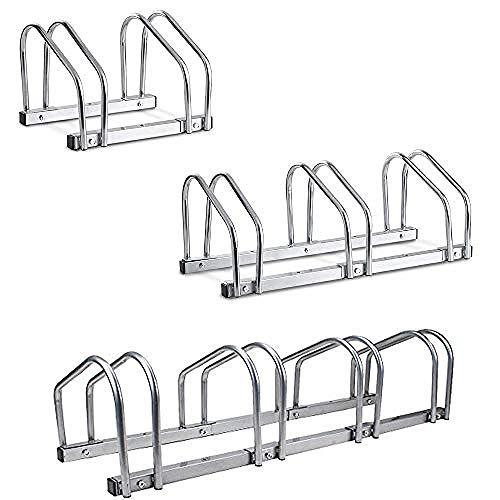 laonie 2/3/4 Bike Wall Stand Parking Floor Storage Stand Rack Bicycle Locking UK-2