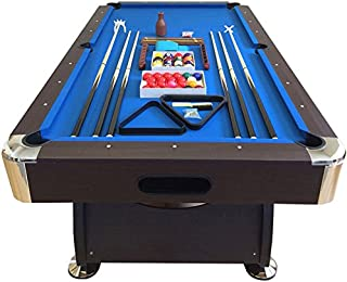 SIMBASHOPPING USA 8' Feet Billiard Pool Table with Automatic Ball Return System Snooker Full Set Accessories Game Vintage Blue 8FT