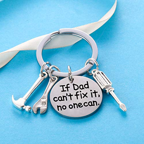 Product Image 2: Dad Keychain Dad Gifts from Son Daughter Christmas Gift Keyring Father's Day Gift for Dad Papa Daddy (If dad Can't fix it, no one can)