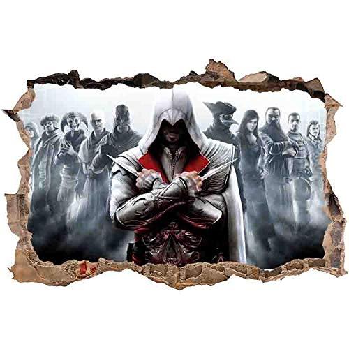 Animeenniv Assassin's Creed Wandtattoo Wasserdicht Anti-Fade Wanddekoration Wandaufkleber Wandsticker Wandbilder für Außenbereich, Garten, Badezimmer-80 * 120cm-C_80*120CM
