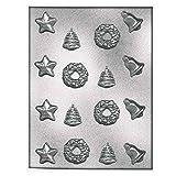 silikomart 70.075.99.0060904108Stampo Silicone per Cioccolato/Gelatine/Forma Stella Campana Ghirlanda Albero di Noel plastica/polietilentereftalato Trasparente 34,5x 20,5x 1cm