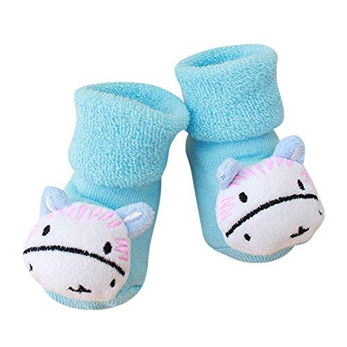 Covermason -Vêtements grossesse Chaussettes Anti-Slip Warm Chaussettes Bébé Fille Garçon Naissance Coton Hiver Epaissir Chaussettes Enfant,Pantoufle Bottes Des chaussures (G, 0-1 Ans)