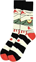 Men's Frankenstein Mummy Halloween Novelty Crew Dress & Trouser Socks