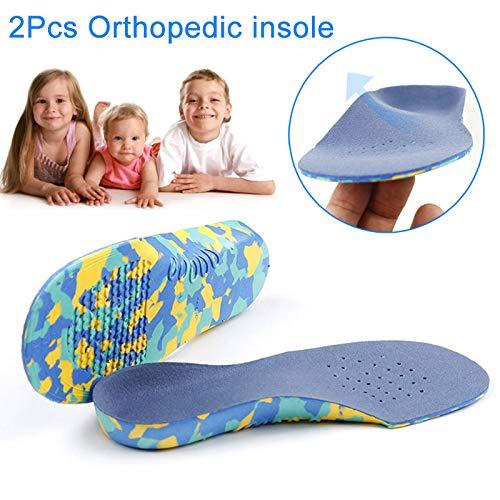 ROKOO 1 paar kinderen orthopedische EVA inlegzolen platte voet boog ondersteuning binnenzool pijn verlichting Sport Schoenen Pad