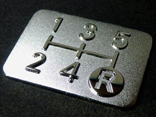 Tuningfan メッキ シフトパターン プレート 5速MT車用