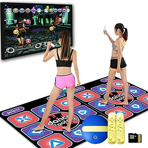 YXZN Dance Mat For TV Dance Pad for Kids Adults, Double Dance Mat with Games, For Children To Connect To The TV/PC, Laptop