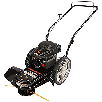 Remington RM1159 159cc 4-Cycle Gas Powered Walk-Behind High-Wheeled String Trimmer - 22-Inch Trimming Mower for Lawn Care Black