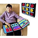 Fidget Blanket for Dementia Alzheimers Products Dementia Activities for Seniors Elderly Sensory Pillow Autistic Improves Mental Stimulation Anxiety Relief Therapy Aid Toys (One Piece)