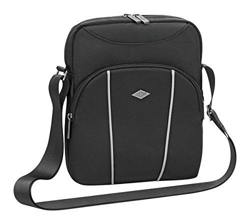 Wedo 595601 Business Messenger Bag voor tablets tot 10,5 inch, van polyester, veel vakken, fleece voering, verstelbare schouderriem, 25,0 x 7,5 x 29,5 cm zwart