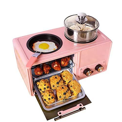 GMZS 4 en 1 Máquina de Desayuno eléctrica para el hogar, pizzera...