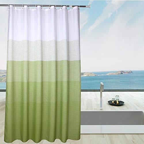 QXHELI regenjas van polyester voor badkamer met haken (grootte naar keuze) sneldrogend (maat 240 x 180 cm)
