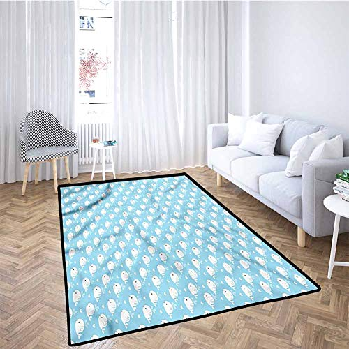 Great Price! Whale Baby Crawling Mat Kids Playmat Blue Baby Shower Design for Toddlers, Stylish & Pe...