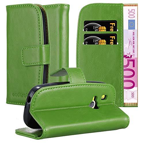 Cadorabo Hülle für Nokia 3310 in Gras GRÜN – Handyhülle mit Magnetverschluss, Standfunktion & Kartenfach – Hülle Cover Schutzhülle Etui Tasche Book Klapp Style