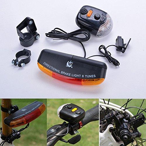 PoeHXtyy - Luz Trasera Multifunción para Bicicleta, luz Nocturna, Intermitente de Freno de Bicicleta, Timbre electrónico, Lámpara de Dirección + luz Trasera + luz de Freno