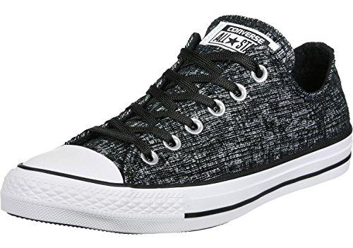 Converse CTAS Sparkle Knit Ox - Ovillo de lana, color blanco y negro