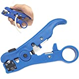 AVESON Universal Cable Stripper Cutter for Flat or Round TV/UTP Cat5 Cat6 Wire Coax Coaxial Stripping Tool