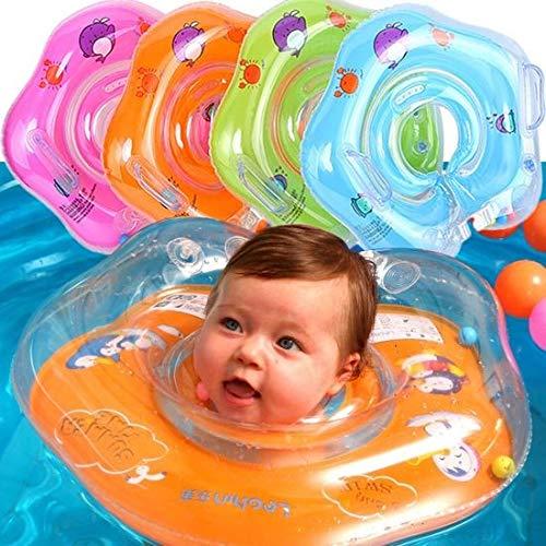 Baby zwemring Oranje - Opblaasbare nekring - Baby zwembad - Baby nekring - Nekring Jeejz (Roze)