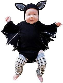 e124ff2bcf347 Oyedens Halloween Déguisement Filles Garçons 0-24 Mois Cosplay Costume  Chauve-Souris Enfant Déguisement