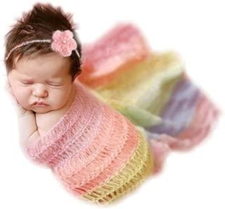 Newborn Baby Photography Shoot Props Outfits Headband Rainbow Tassel Blanket Boy Girls Photo Props