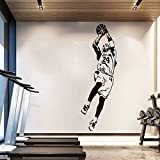 Handaxian NBA Kobe Bryant Wallpaper Giocatore di Basket Adesivi murali Decorazioni per la casa Fan Regali Ragazzo Adesivo Camera Vinile Parete verruca 42 * 125 cm