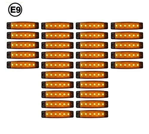 30 x LED 24V ORANGE BEGRENZUNGSLEUCHTE POSITIONSLEUCHTE SEITENMARKIERUNGSLEUCHTE LKW