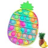 Fidget Toy Poppit Antistress Popit Game Pop Bubble ananas Toys Gioco Antistress a fine Tensione Giocattolo sensoriale L'autismo allevia l'ansia per Bambini e Adulti (ananas-it)