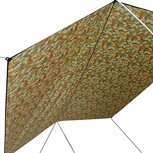 10 X 10ft Camping Tarp Tarp Outdoor Shelter Tarp Waterproof Hammock Rain Fly Tent UV Resistant Mat For Camping Fishing Picnic Hiking