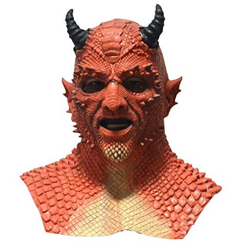 Creacom El Señor de Las mentiras Máscara de Belial, El Señor de Las mentiras Máscara de Belial Látex Natural Máscara de Cosplay Malvado Demonio de Miedo Máscara de Disfraz de Halloween