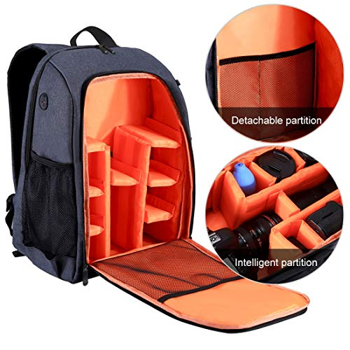 Cámara Profesional Laptop Camera Backpack Bag Laptop para Canon, Nikon, Sony, Panasonic, Pentax, Olympus y más