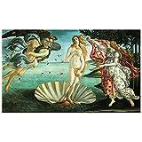 Legendarte Cuadro Lienzo, Impresión Digital - El Nacimiento De Venus - Sandro Botticelli cm. 60x100 - Decoración Pared