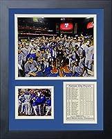 "Legends Never Die MLB Kansas City Royals 2015 World Series Champions Mound Framed Photo Collage, 11"" x 14"""