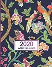 2020 Weekly Planner: January 2020 to December 2020 Weekly and Monthly Planner with One Year Daily Agenda Calendar, 12 Month Tropical Bird Navy Cover ... Quotes, Holidays, Notes & Vision Board